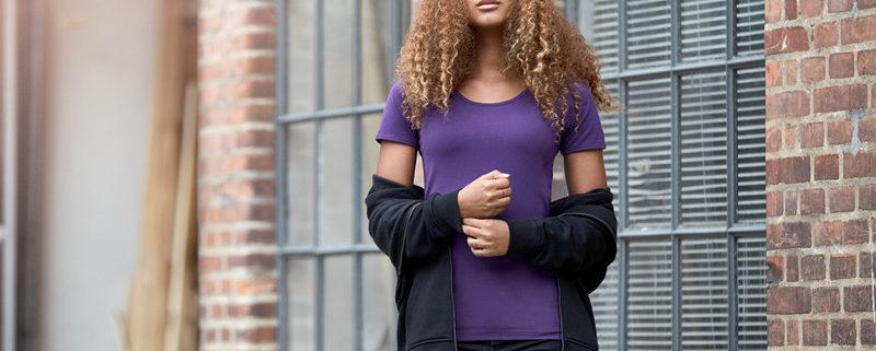 ID 0590 dámské fialové tričko
