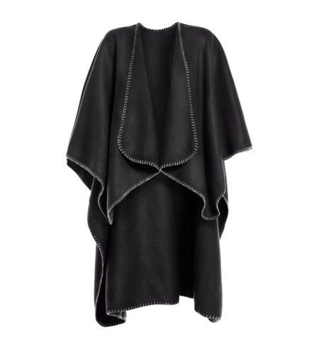 Dámské fleecové pončo, ID 0078, černá 1