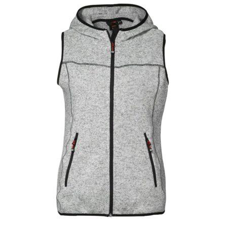 Fleecová dámská vesta Game s kapucí, ID 0865, šedá melange 1