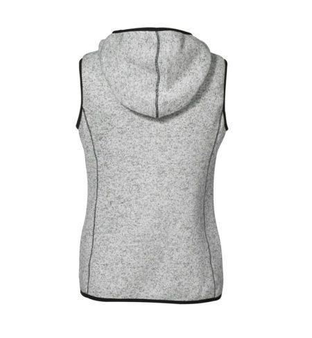 Fleecová dámská vesta Game s kapucí, ID 0865, šedá melange 2