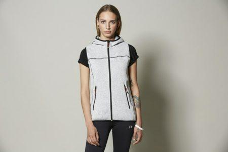 Fleecová dámská vesta Game s kapucí, ID 0865, šedá melange 3