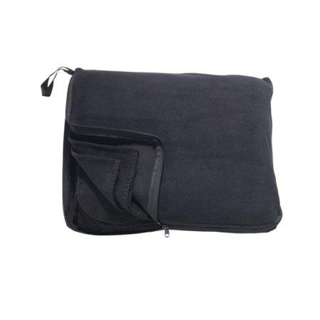 Fleecová deka/polštářek, ID 0075, černá 1