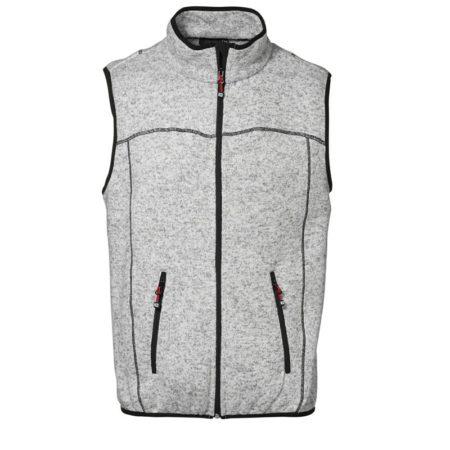 Fleecová pánská vesta GAME, ID 0864, šedá melange 1