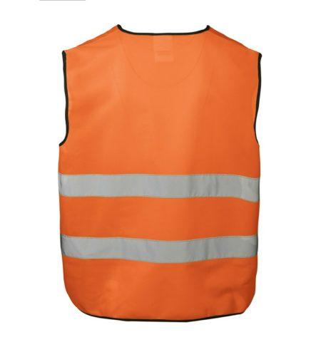Pracovní vesta EN 20471, ID 1900, fluorescenční oranžová 2