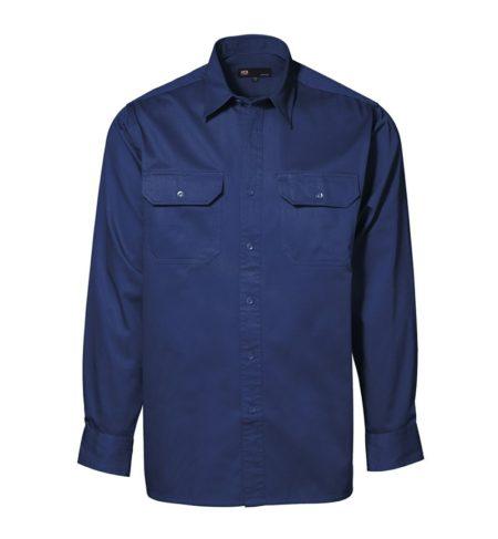 Bavlněná košile s dlouhým rukávem Worker, ID 0200, navy 1
