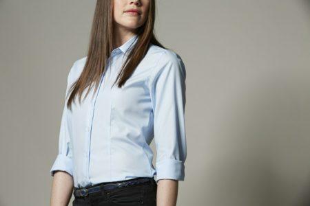Dámská košile EASY IRON, ID 0257, světle modrá 4