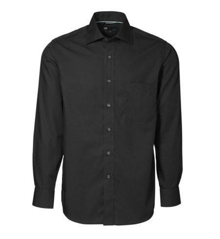 Exclusive poplin Košile s dlouhým rukávem, ID 0256, černá 1