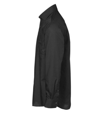 Exclusive poplin Košile s dlouhým rukávem, ID 0256, černá 2