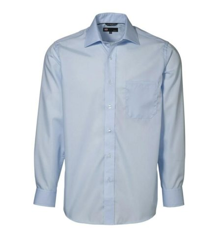 Exclusive poplin Košile s dlouhým rukávem, ID 0256, světle modrá 1