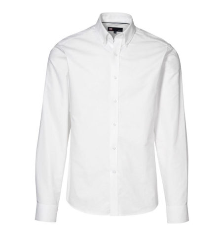 Oxford košile s dlouhým rukávem, ID 0270, bílá 1