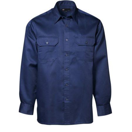Pracovní košile s dlouhým rukávem, ID 0201, navy 1
