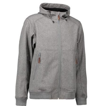 Softshellová bunda s kapucí, ID 0878, šedá melange 1