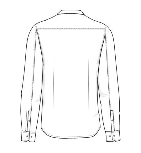 Reklamní pánská košile s dlouhým rukávem Casual Stretch - bílá