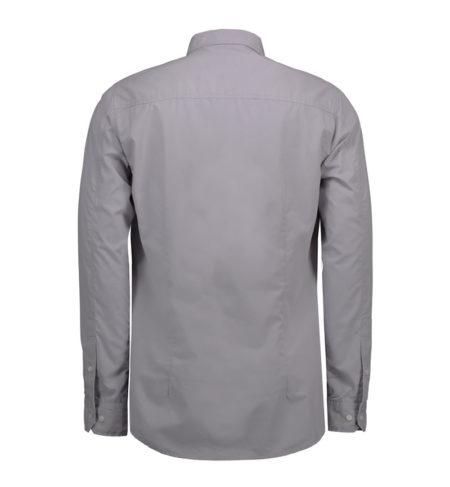 Reklamní pánská košile s dlouhým rukávem Casual Stretch - šedá