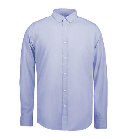 Reklamní pánská košile s dlouhým rukávem Casual Stretch - světle modrá