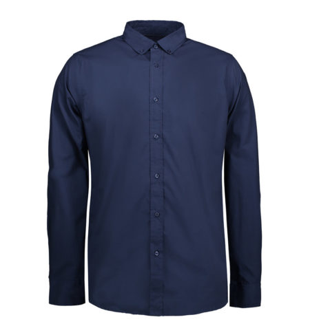 Reklamní pánská košile s dlouhým rukávem Casual Stretch - navy