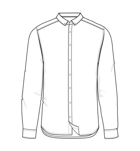 Reklamní pánská košile s dlouhým rukávem Casual Stretch - černá