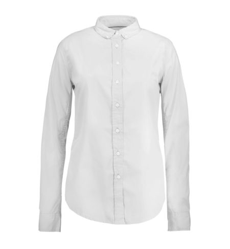 Reklamní dámská košile s dlouhým rukávem Stretch - bílá
