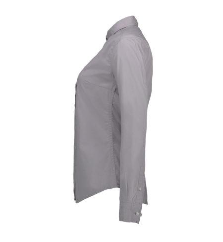 Reklamní dámská košile s dlouhým rukávem Stretch - šedá