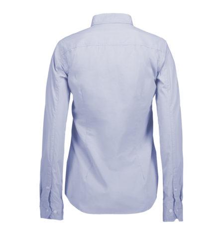 Reklamní dámská košile s dlouhým rukávem Stretch - světle modrá