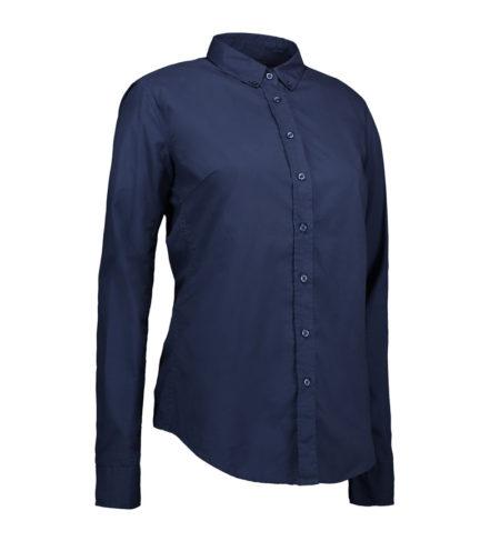 Reklamní dámská košile s dlouhým rukávem Casual Stretch - navy