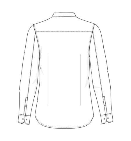 Reklamní dámská košile s dlouhým rukávem Stretch - navy