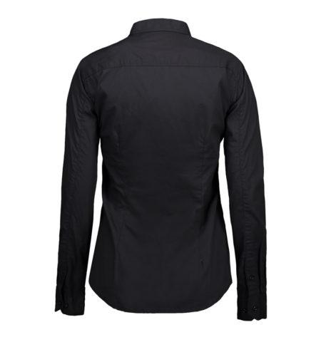 Reklamní dámská košile s dlouhým rukávem Stretch - černá