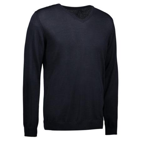 Reklamní pánský pletený svetr s V-výstřihem - navy