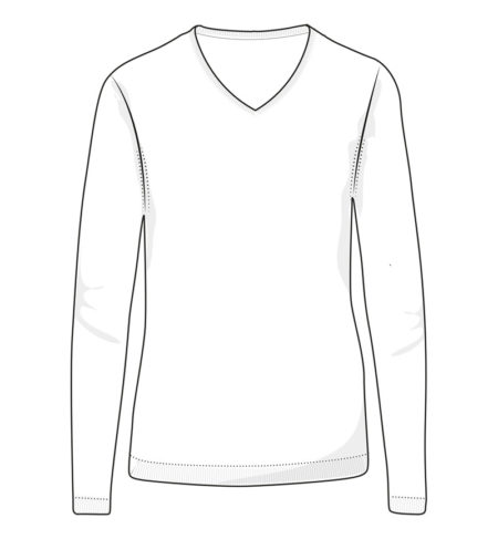 Reklamní dámský pletený svetr s V-výstřihem - černý